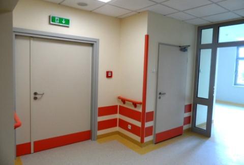 Drzwi techniczne stalowe wewnętrzne